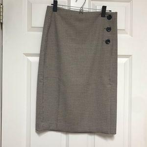 Plain Ann Taylor Pencil Skirt with Buttons